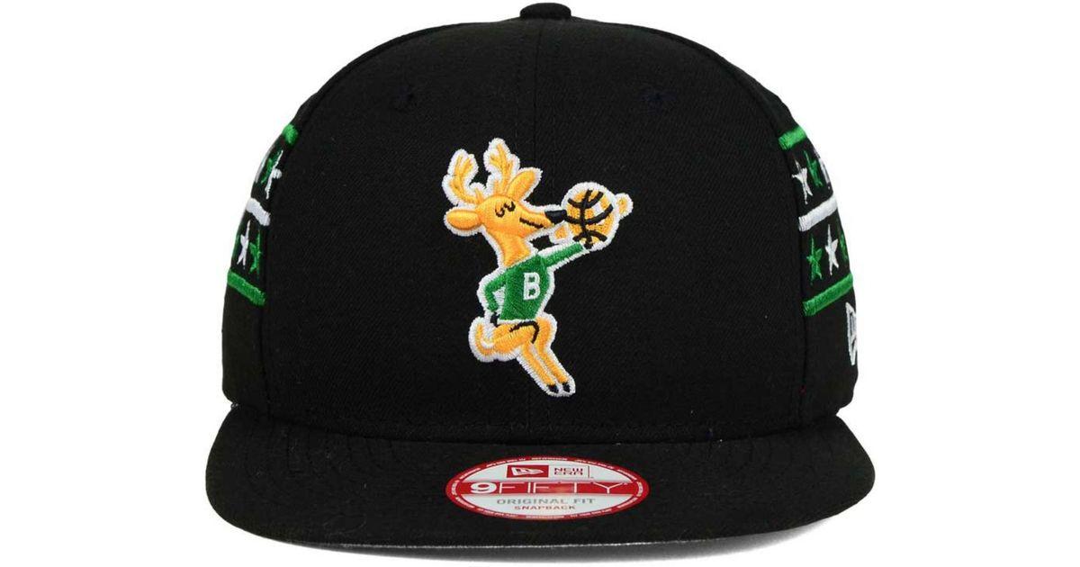 release date 00e45 d9feb Lyst - KTZ Milwaukee Bucks Fine Side 9fifty Snapback Cap in Black for Men
