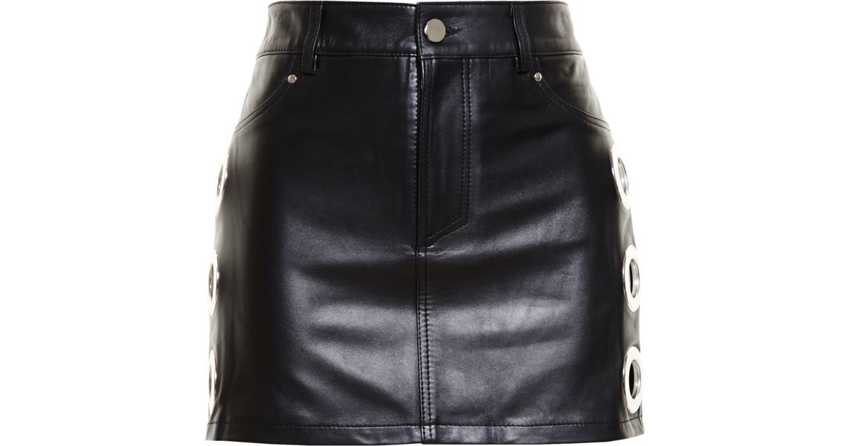 newest selection many choices of big discount of 2019 Filles A Papa Black Leather Skirt