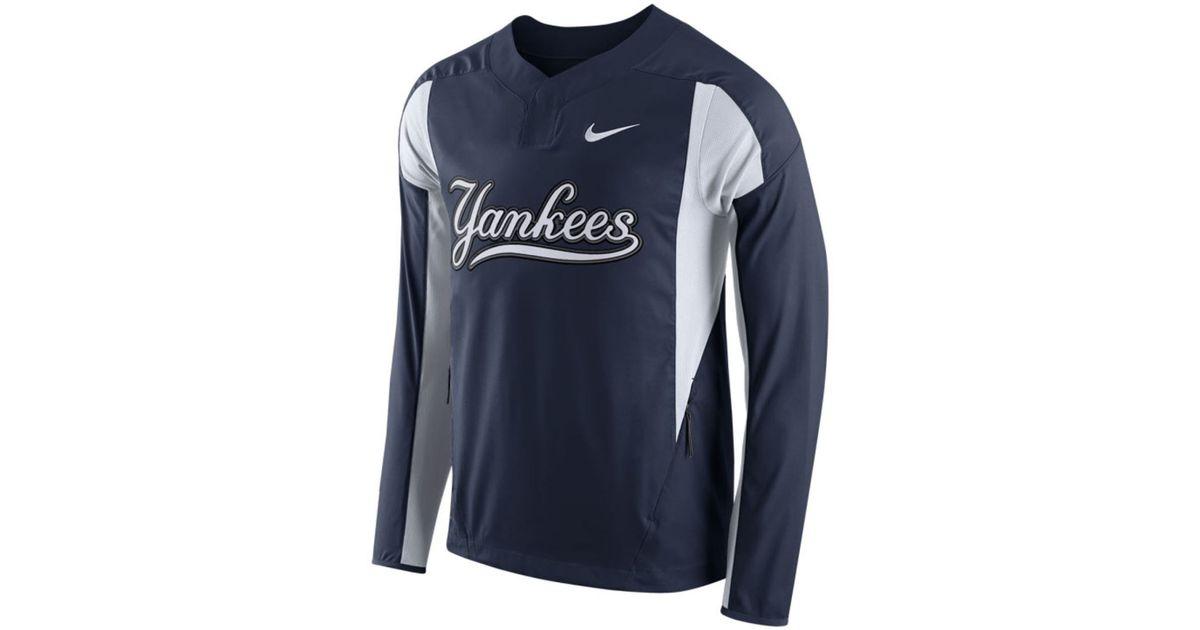 Lyst - Nike Men s New York Yankees Long-sleeve Windshirt in Blue for Men 1810f4967829