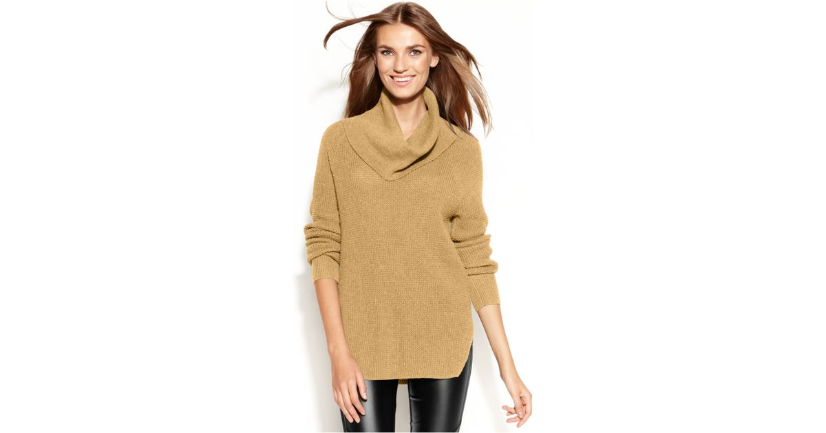 611fcb3e2bf076 Michael Kors Michael Chunky Knit Cowl-Neck Sweater in Natural - Lyst