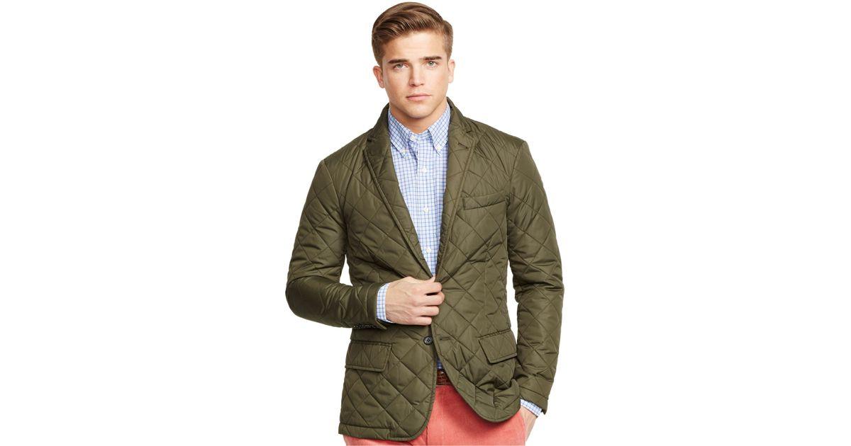 For Ralph Green Men Quilted Sport Polo Lauren Coat BorxedC