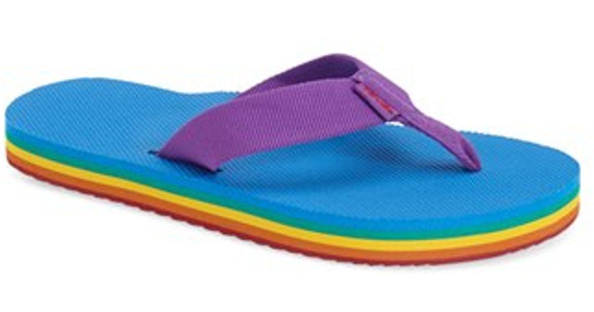 Teva Woven Flip Deckers Purple Flops D9EWH2I