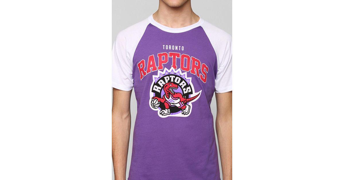 the best attitude 679f0 54161 Urban Outfitters Purple Nba Toronto Raptors Raglan Tee for men