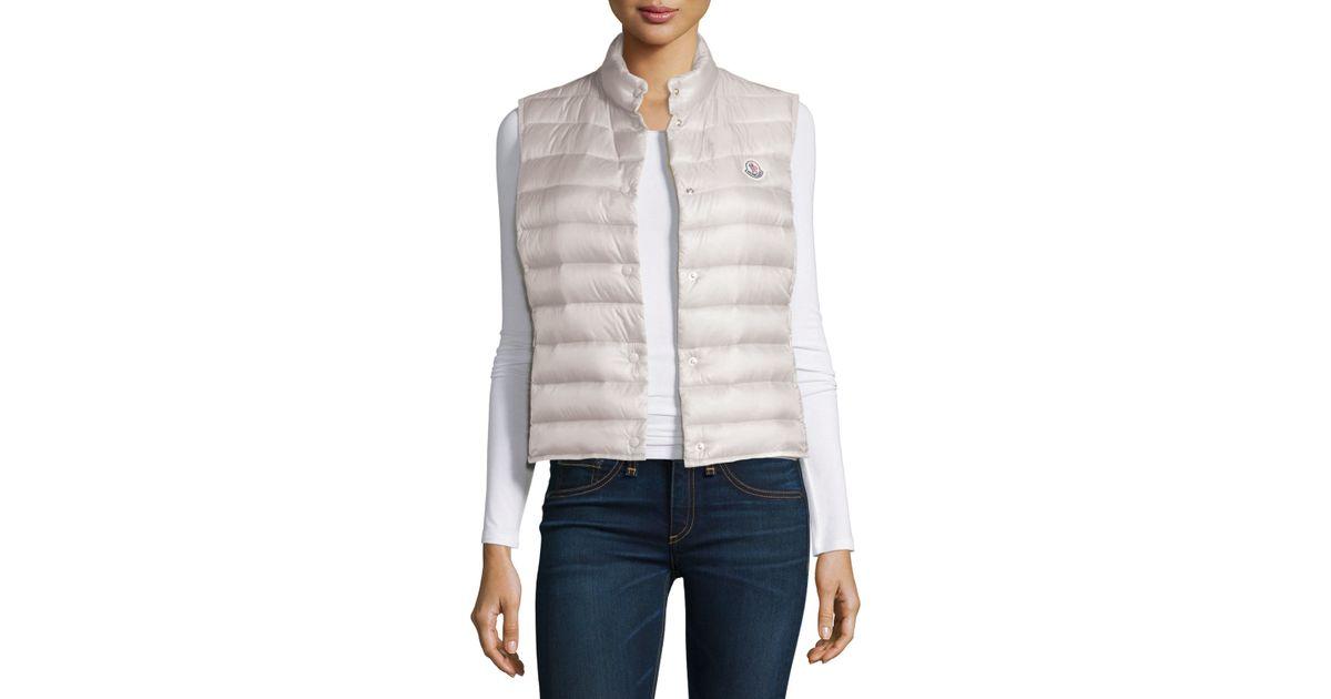 77cec4168 Lyst - Moncler Liane Puffer Vest in White