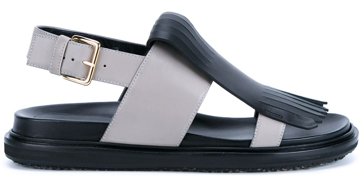 Marni fringed slingback sandals free shipping order P0pBtTHa
