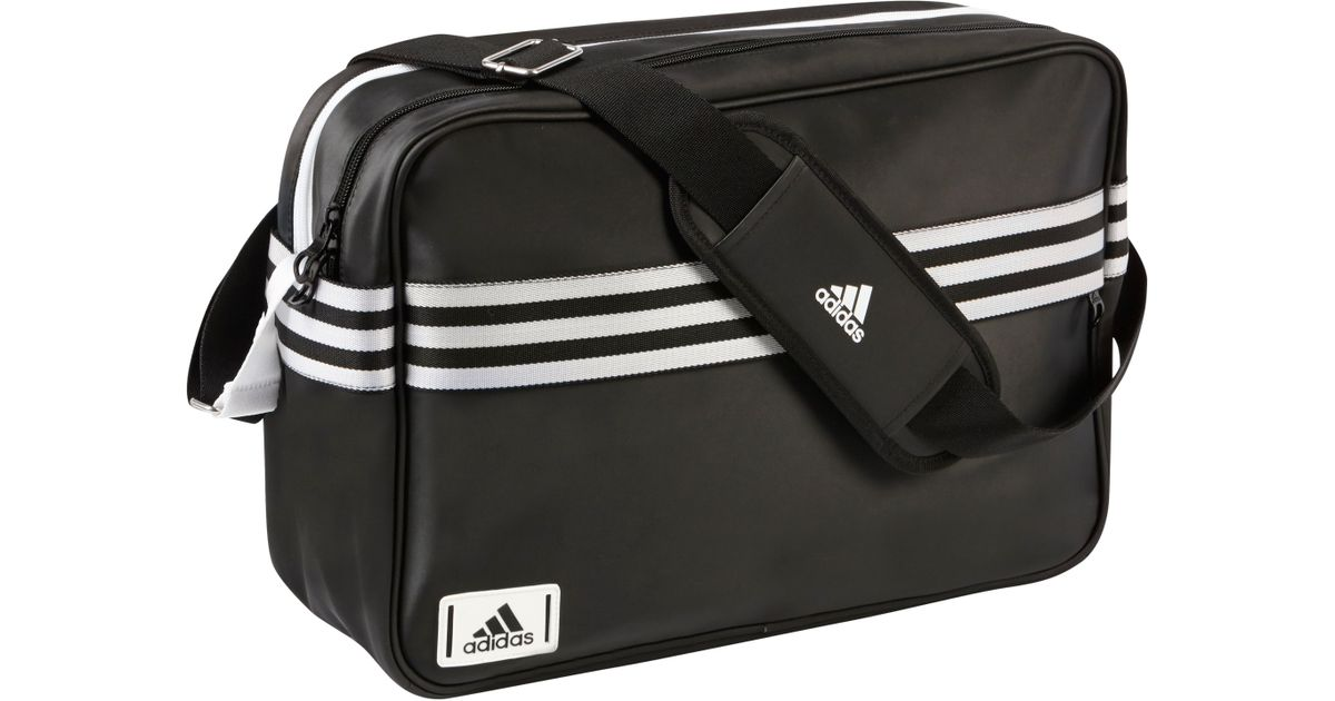 26de9505c138 adidas Enamel Messenger Bag in Black for Men - Lyst