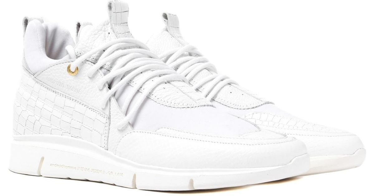 451e1a0959e3 Android Homme Runyon Runner 117 White Leather Trainers in White for Men -  Lyst