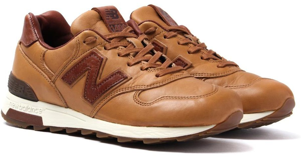 on sale f77da bb15c New Balance Made In The Usa 1400 Brown Leather Trainers for men