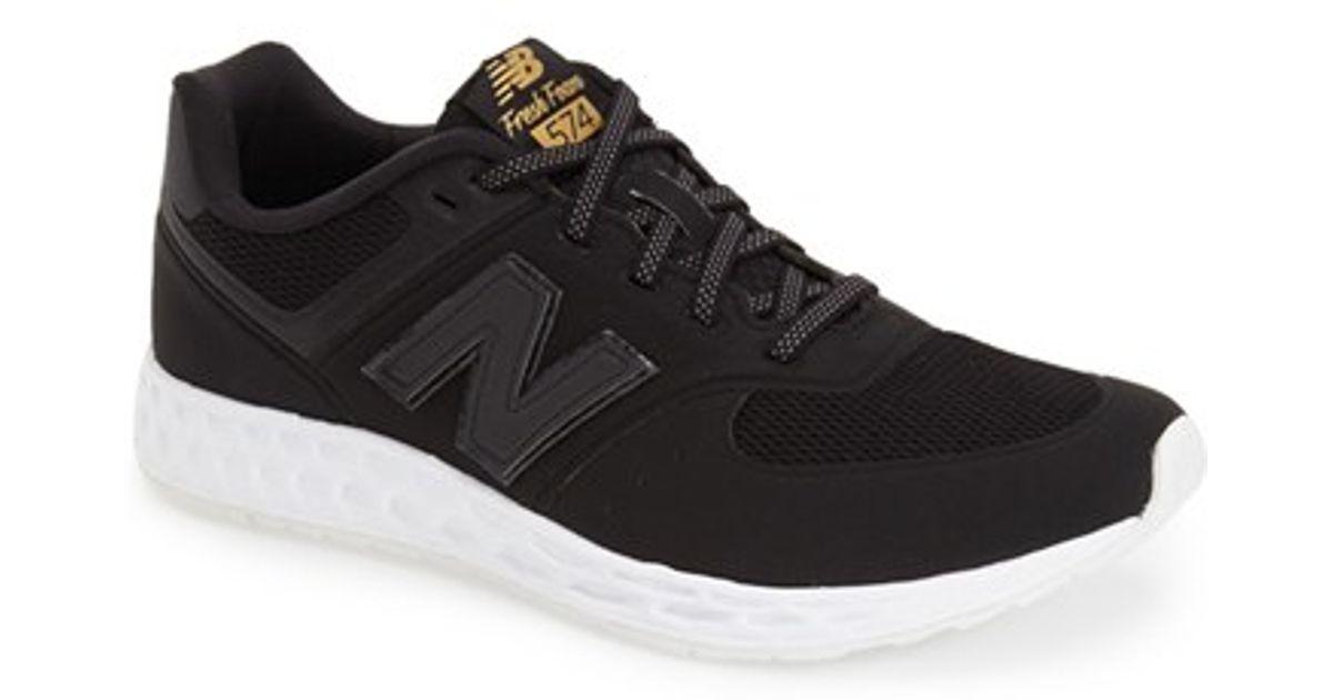 online store 3b7b8 97f95 New Balance Black 574 Fresh Foam Low-Top Running Sneakers for men