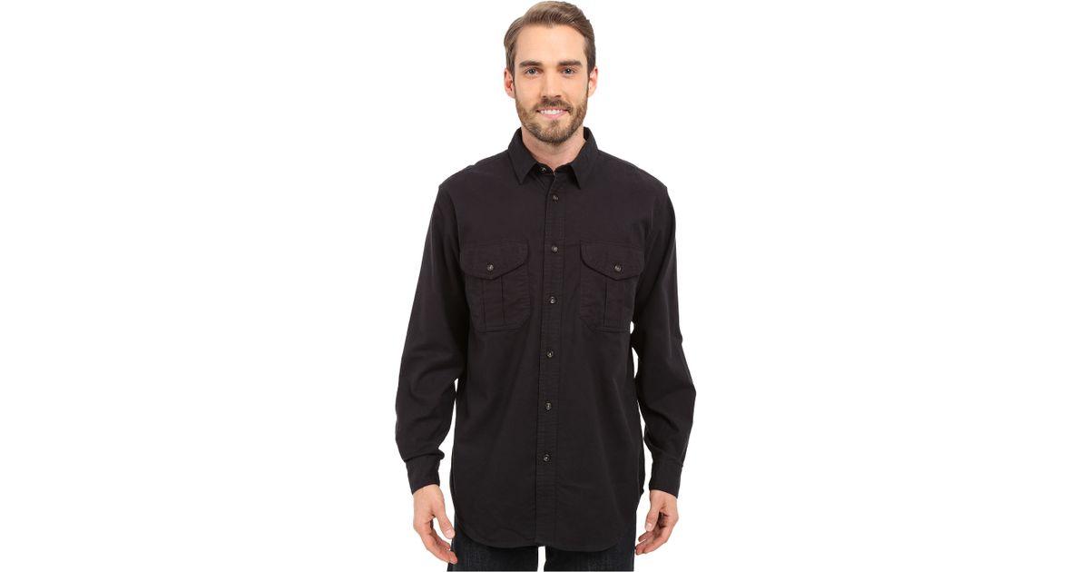 Filson Extra Long Alaskan Guide Shirt In Blue For Men