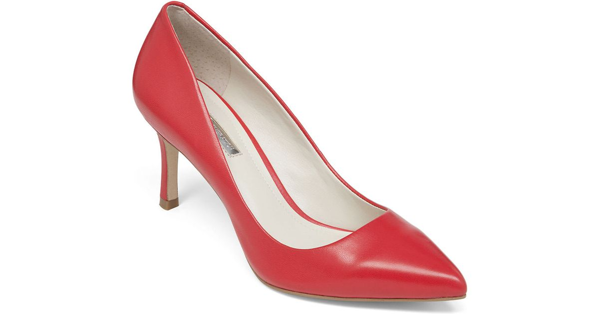 6408db29bc6 Lyst - Bcbgeneration Pinni Leather Pumps in Red