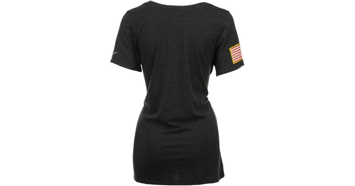uk availability 4b2be a2672 Nike Black Women's Chicago Bears Salute To Service T-shirt