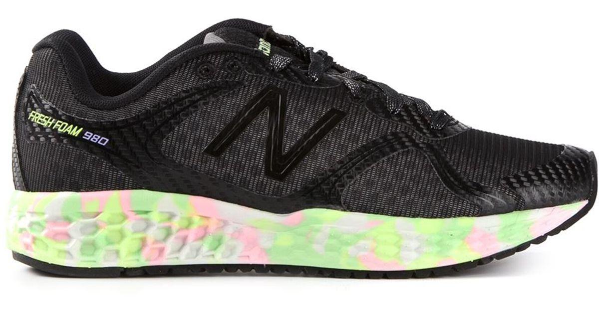 New Balance Black 'Fresh Foam 980' Sneakers