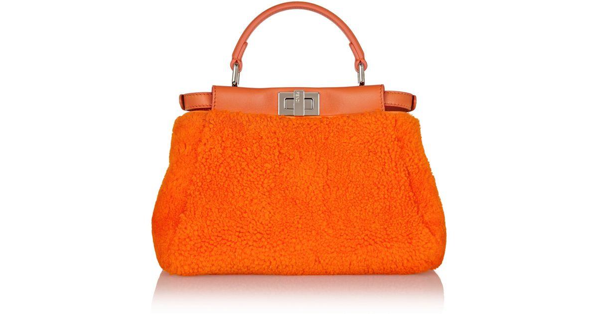 Fendi Peekaboo Mini Orange