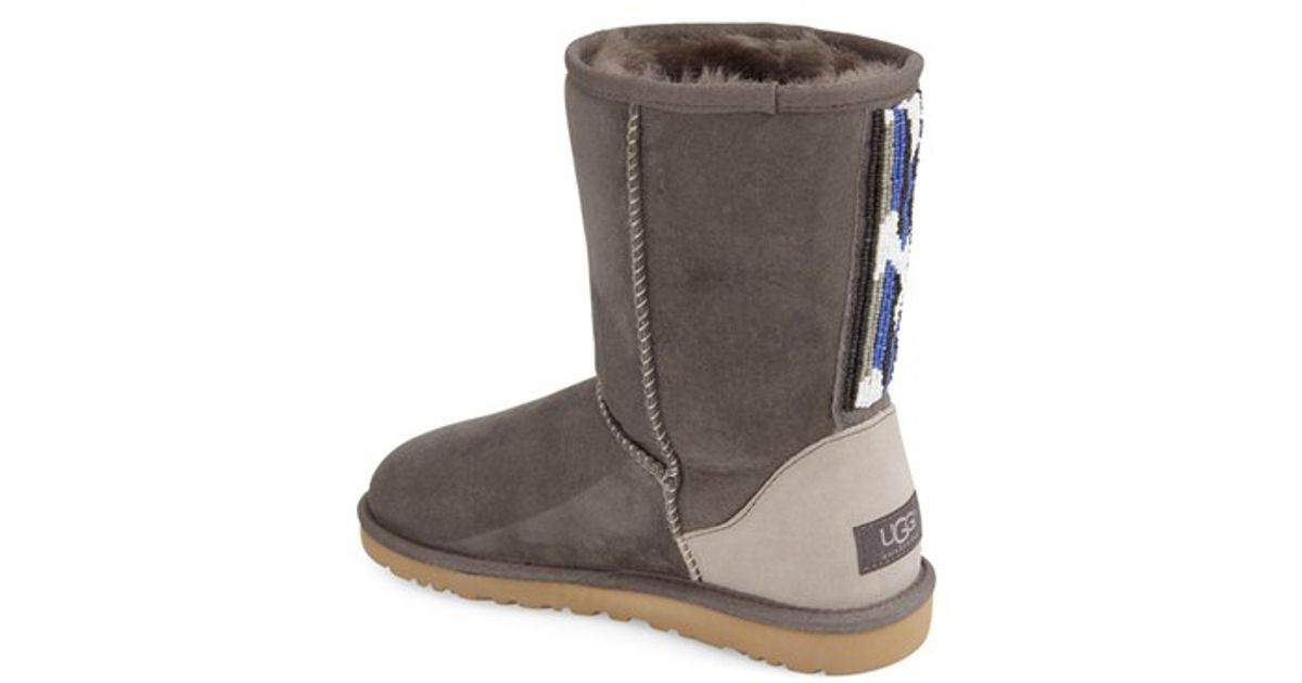 5df59d1240b UGG Gray 'classic Short - Serape' Beaded Boot