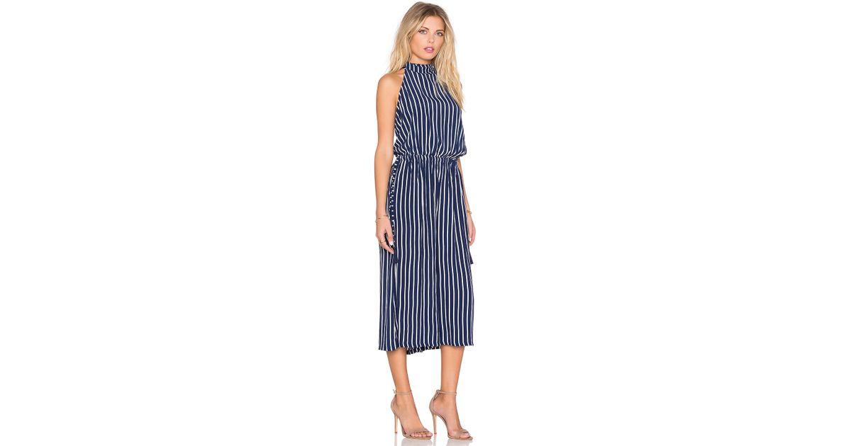 e472933d7e9b Lyst - Faithfull The Brand Fleetwood Story Stripe Jumpsuit in Blue