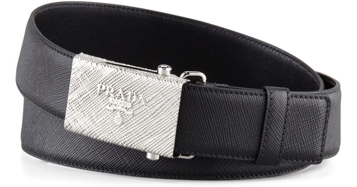prada leather belts for men