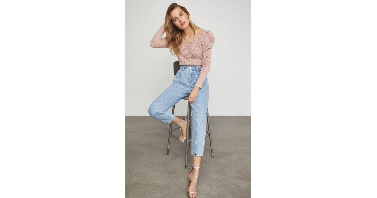 BCBGMAXAZRIA Womens Denim Trouser Jean