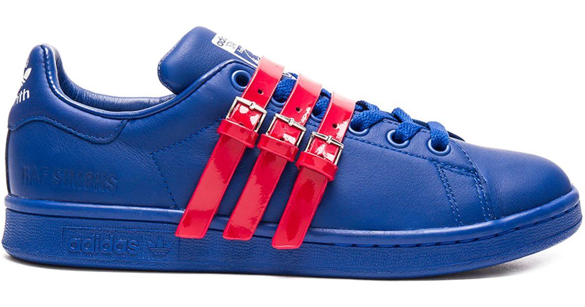 5c37f5fa481 Lyst - adidas By Raf Simons Stan Smith Strap Sneaker