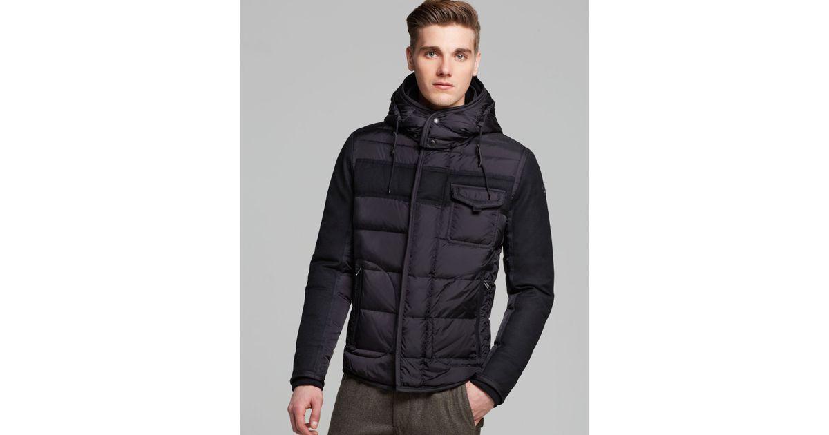 002c6ce64 Moncler Black Ryan Hooded Down Jacket for men