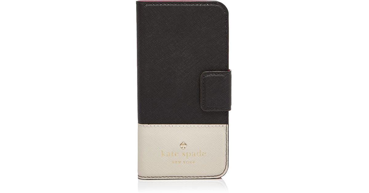 lowest price c550f b2d05 kate spade new york Black Cedar Street Folio Iphone 6 Case