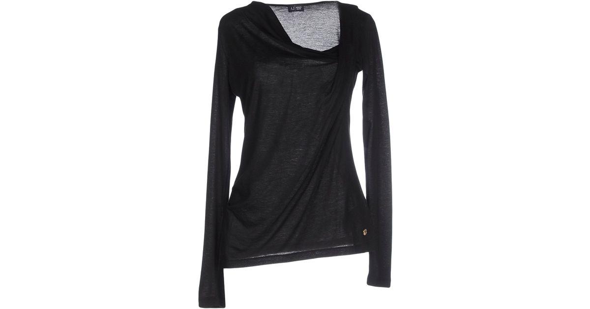armani jeans t shirt in black lyst. Black Bedroom Furniture Sets. Home Design Ideas