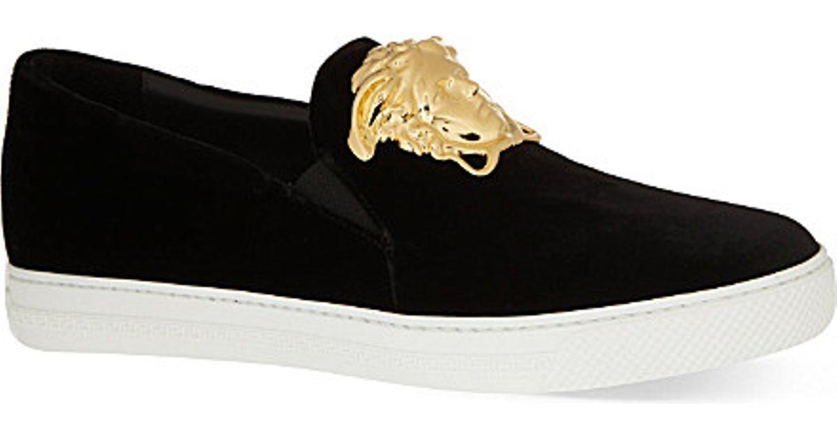 fc76de7ed6 Versace Black Senator Velvet Skate Shoes