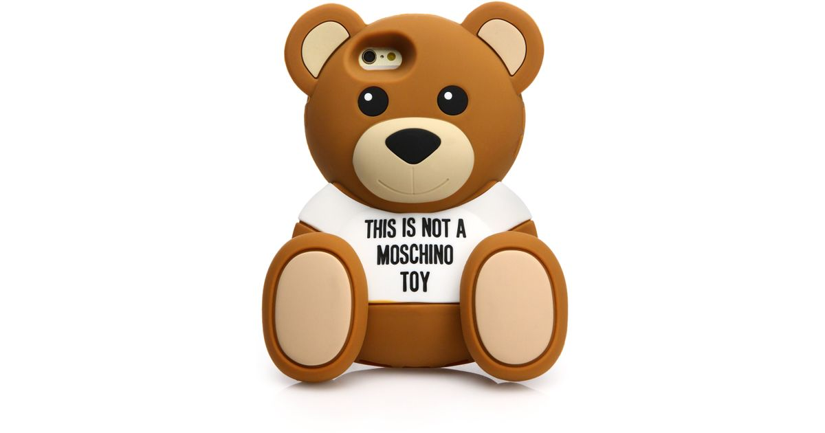 sports shoes 5d055 51f56 Moschino Brown Teddy Bear Iphone 6 Case