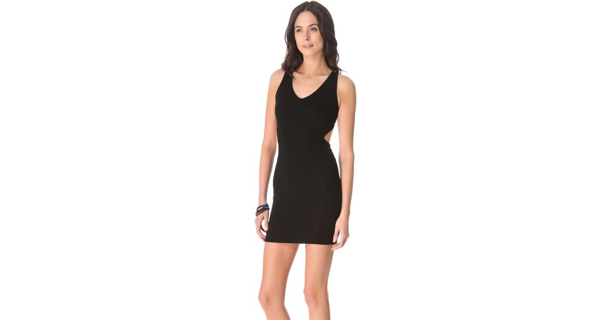 Lyst David Lerner Cutout Mini Dress Black In Black