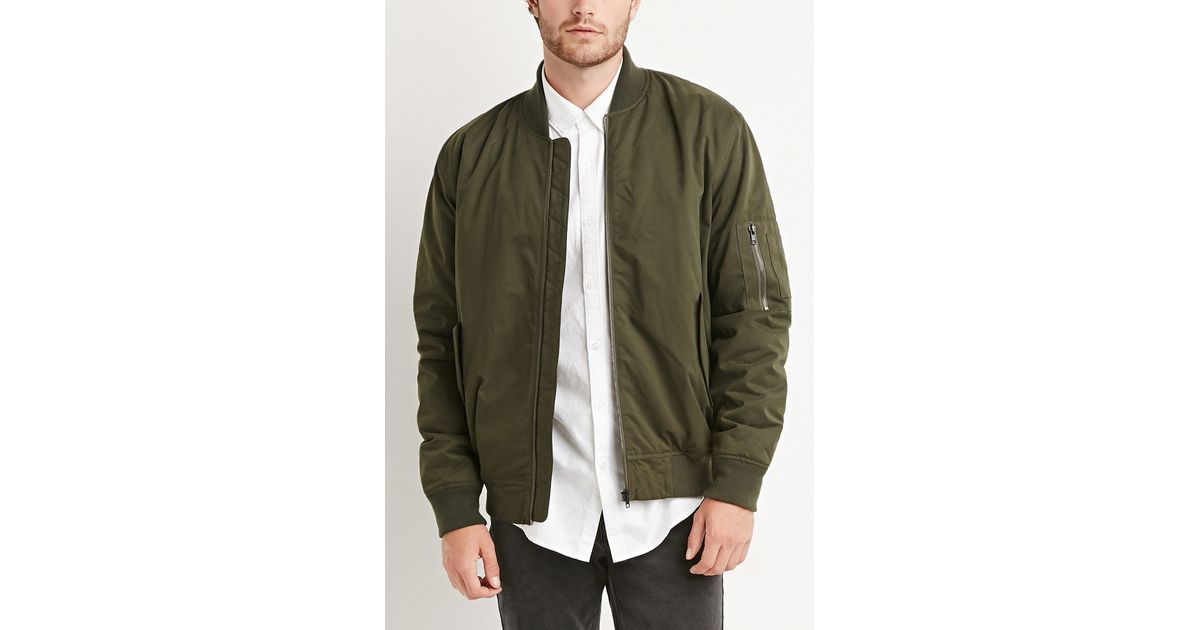 8d953e097 Forever 21 Green Padded Bomber Jacket for men