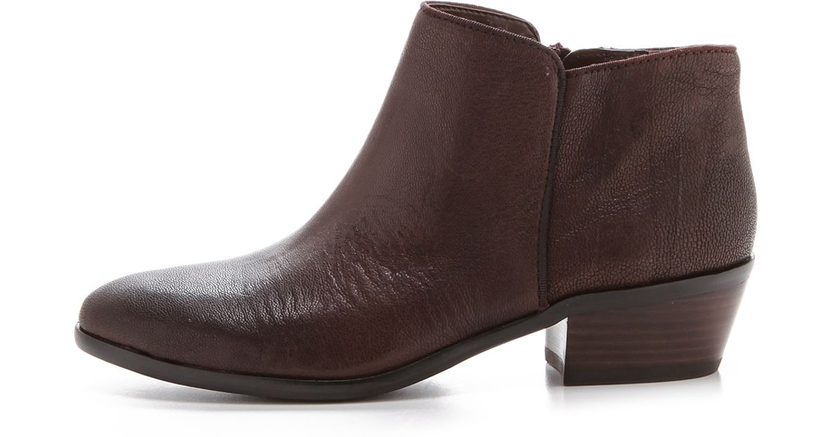 e7560b7a5 Sam Edelman Ankle Booties - Petty in Brown - Lyst