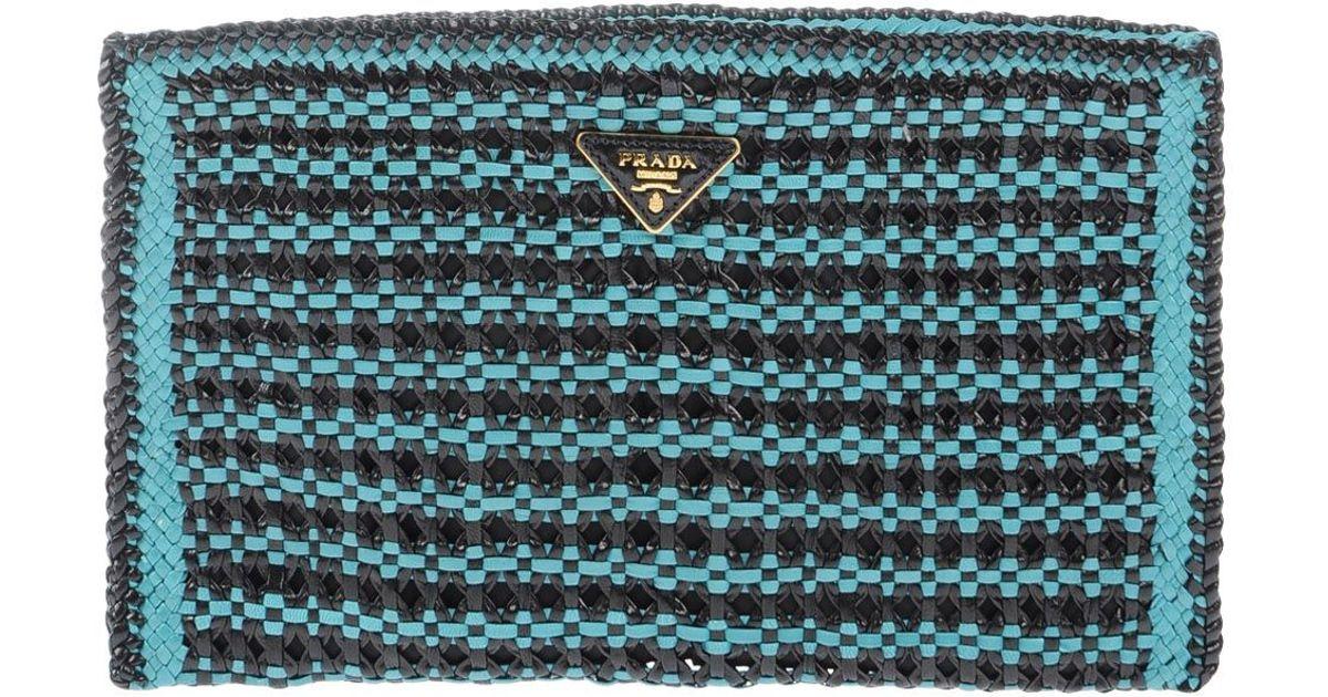 Prada Handbag in Blue (Turquoise) | Lyst