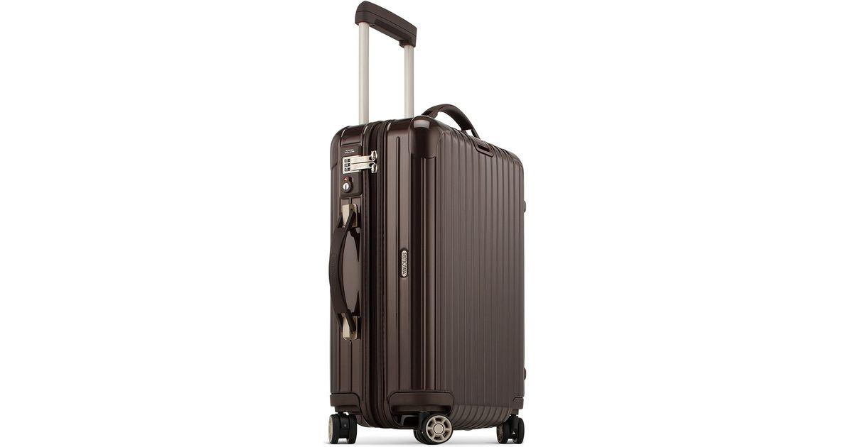 Lyst   Rimowa Salsa Deluxe Cabin Multiwheel® Iata (brown, 35 Litre) In Brown