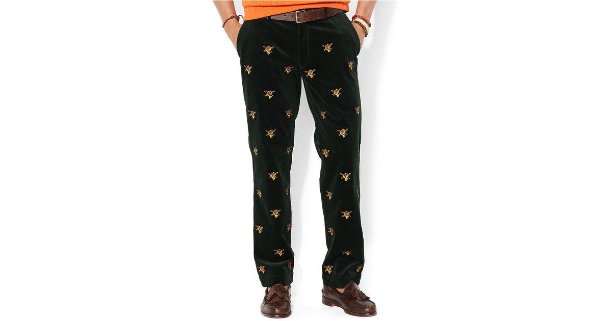Corduroy Green Men For Ralph Lauren Newport Classic Pants Polo Fit Embroidered qSMGUzVLp