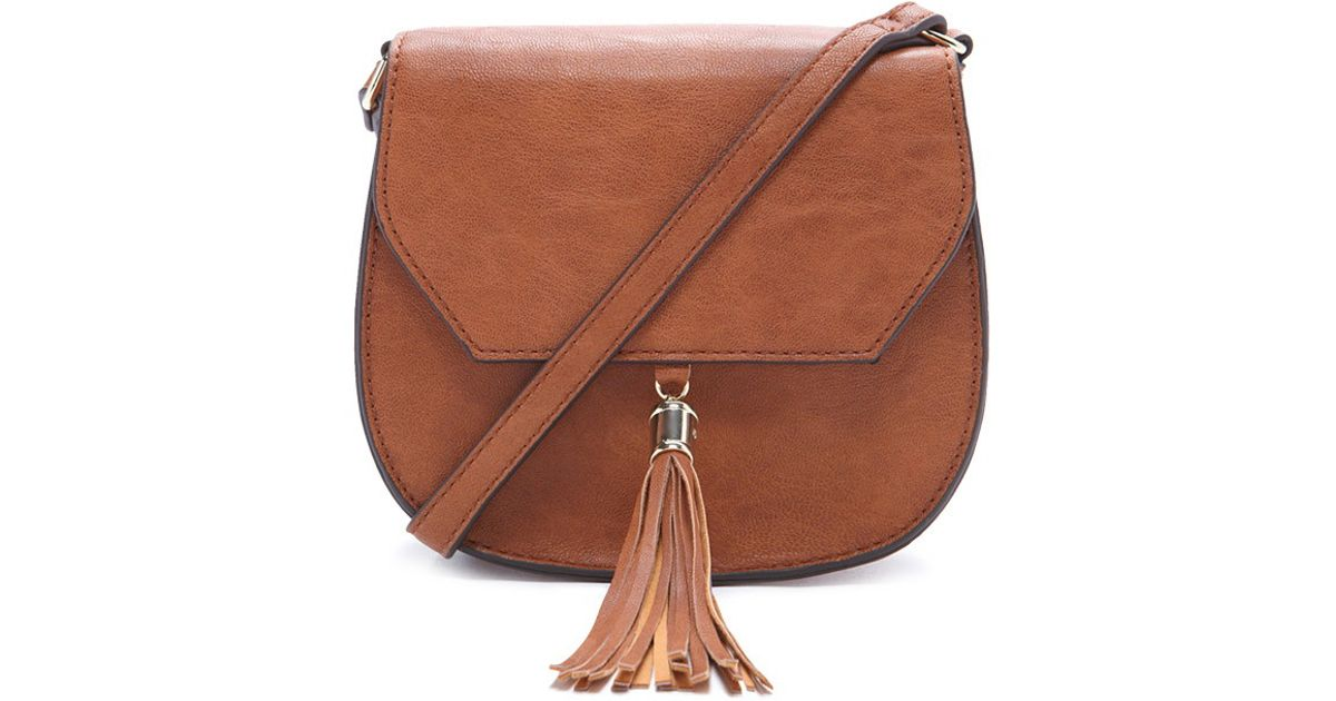 Lyst - Forever 21 Faux Leather Saddle Crossbody in Brown f0c30b641bf4e