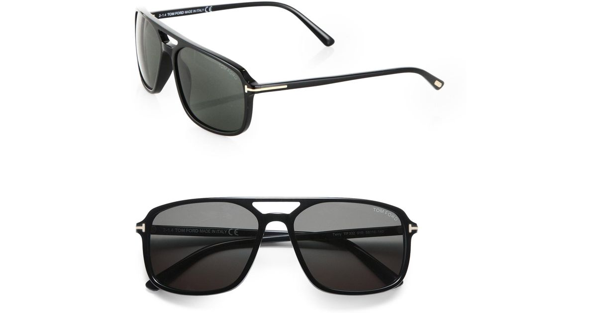 3133a21129078 Tom Ford Terry 58mm Acetate Navigator Sunglasses in Black for Men - Lyst