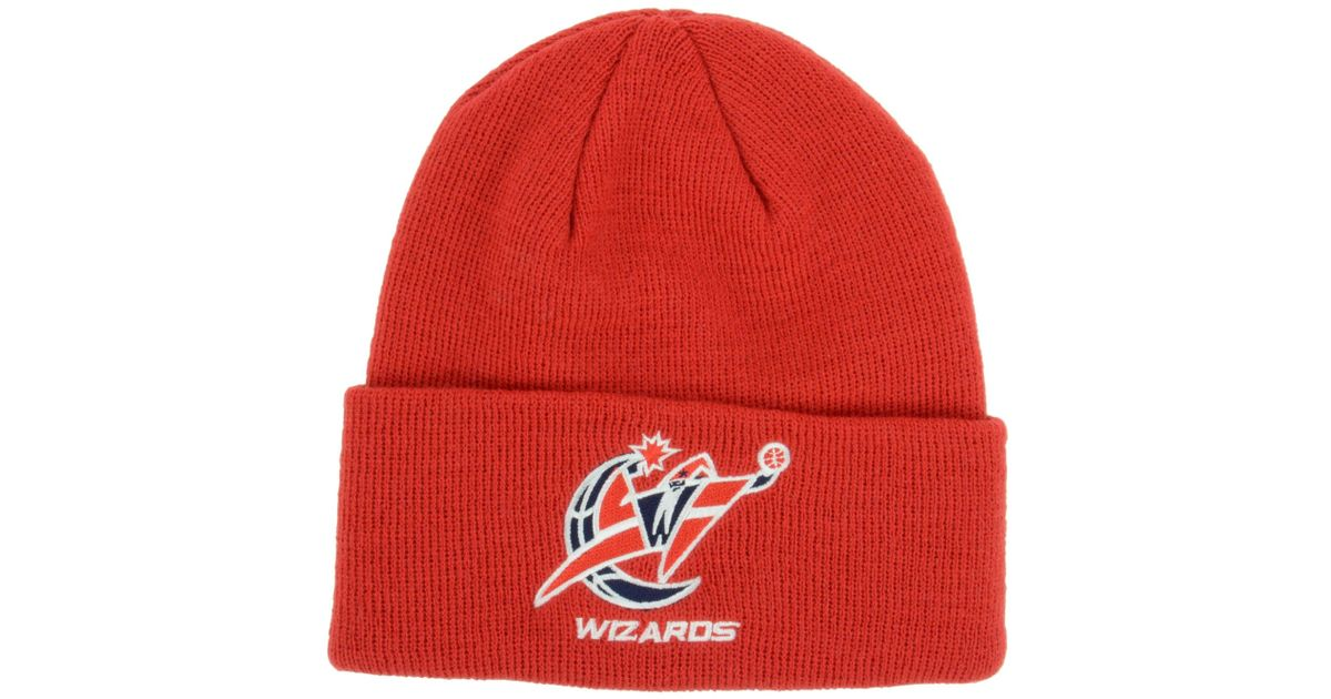 Lyst - adidas Washington Wizards Cuff Knit Hat in Red for Men b8be6e4a8a1