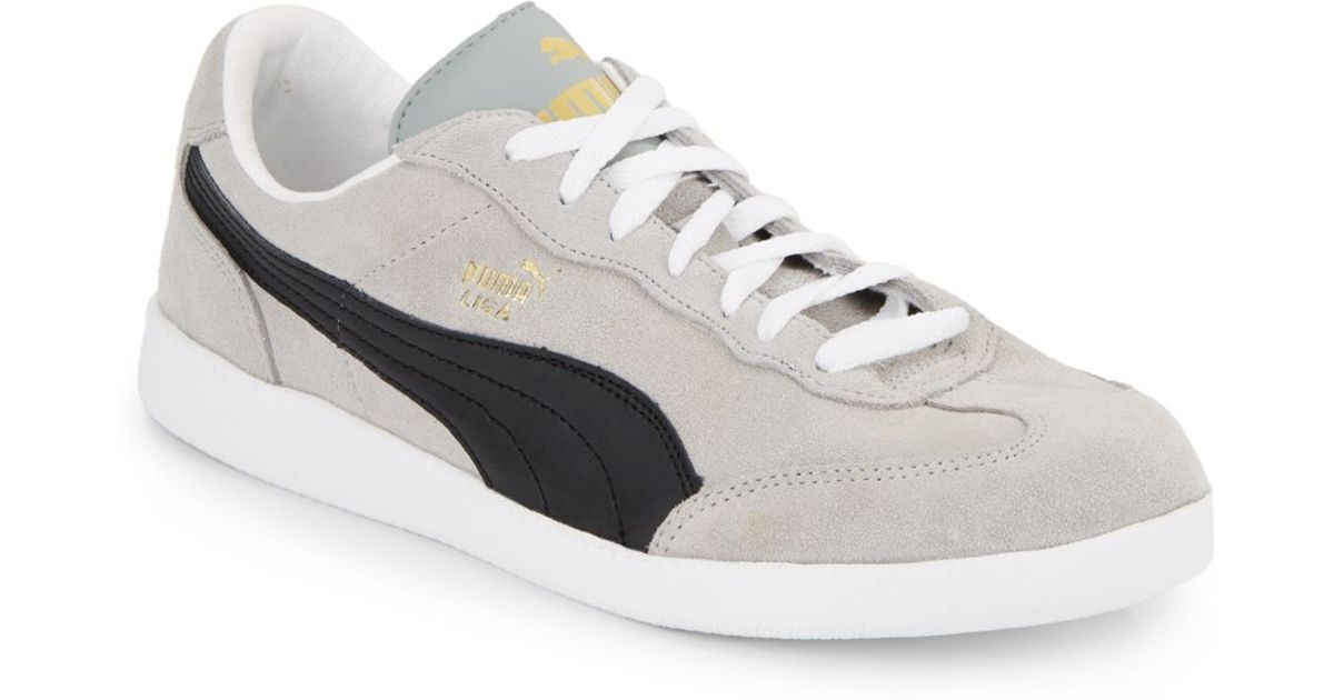 83b7d03cdd9400 ... lyst puma liga suede sneakers in gray for men