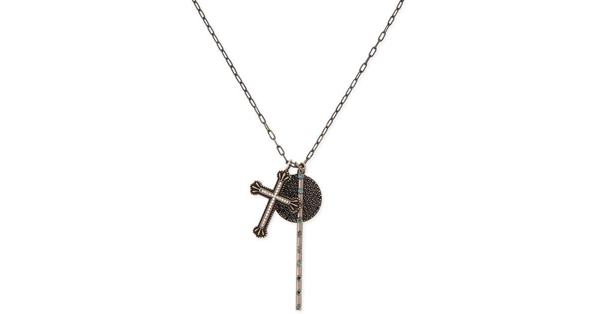 Katie design jewelry Cross in Metallic Lyst
