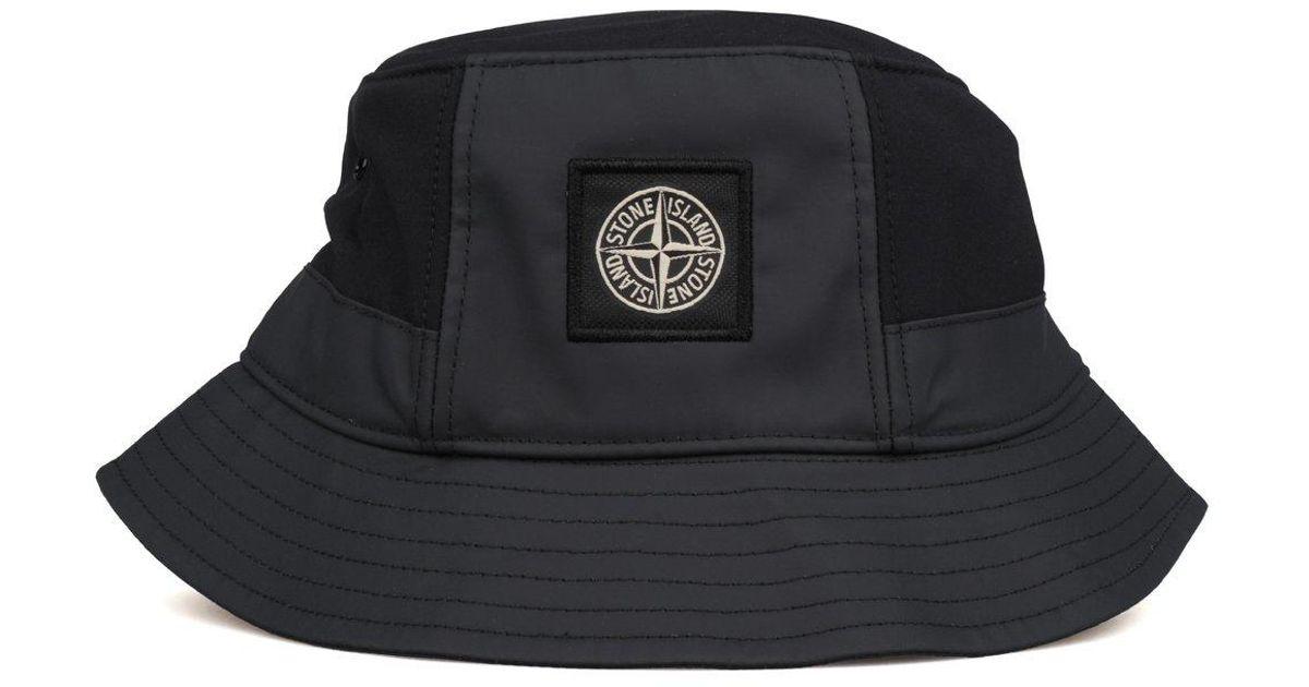 01d0ed3dce9 Lyst - Stone Island Bucket Hat in Black for Men