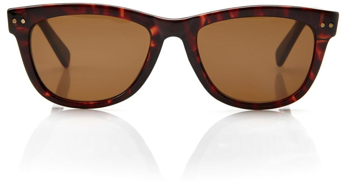 8380ed01aa7a4 Lyst - Cole Haan C8069 Tortoiseshell Wayfarer Sunglasses in Brown for Men