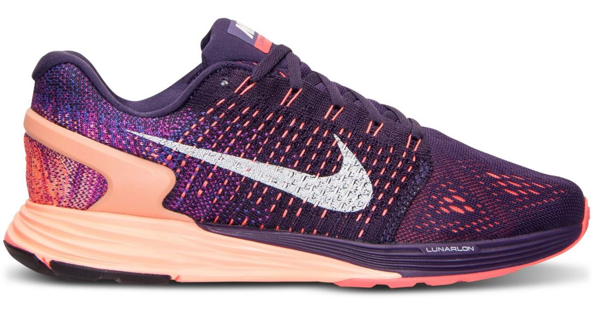 new style 4fc98 47fa3 Nike Purple Women's Lunarglide 7 Running Sneakers From Finish Line
