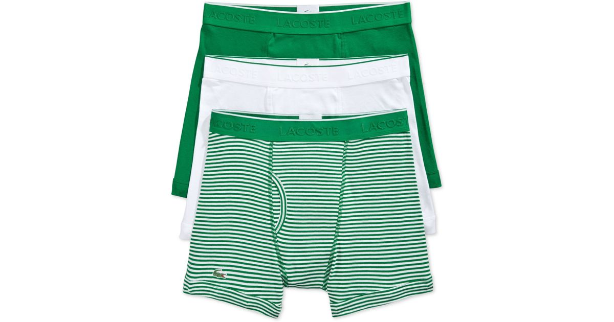 855715e8 Lacoste Green Men'S Boxer Briefs 3-Pack for men