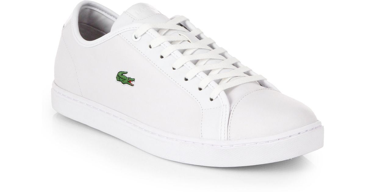 Lacoste Leather Tennis Shoes in White