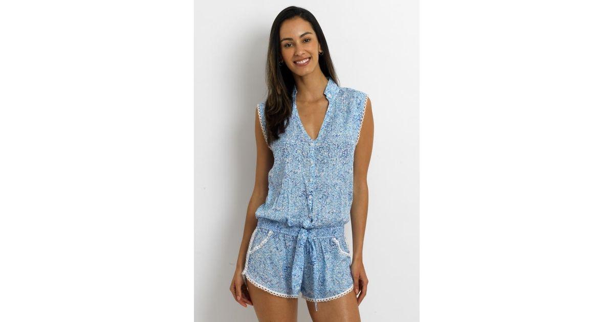f27ff052cc Lyst - Poupette Elodie Short Jumpsuit in Blue