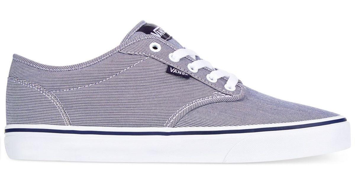 Lyst - Vans Men s Atwood Textile Sneakers in Blue for Men 40498fe75