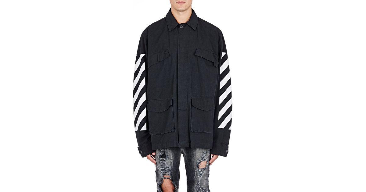 8a4c1bb59 Off-White c/o Virgil Abloh Black Ripstop Field Jacket for men