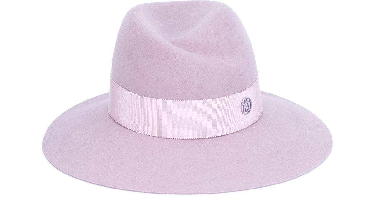 Lyst - Maison Michel Virginie Felt Fedora Hat in Pink e58295e5d13