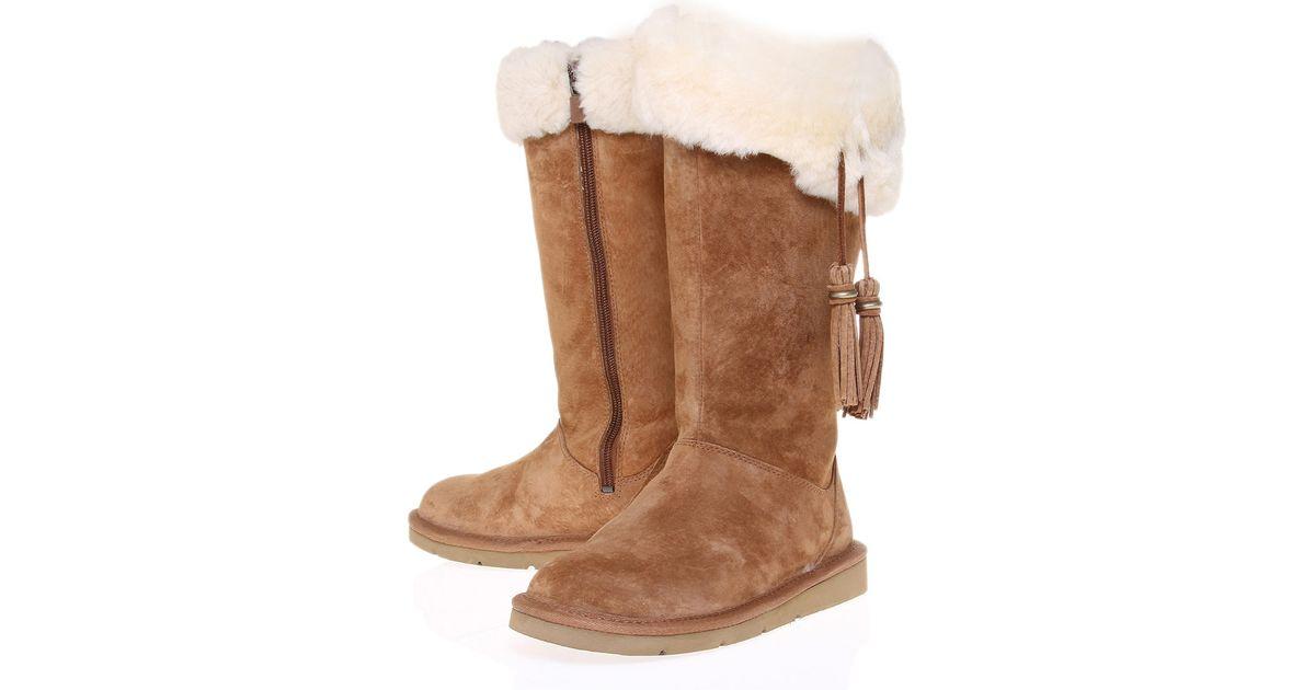 299f367fdcd UGG Brown Tan Plumdale Sheepskin Boots