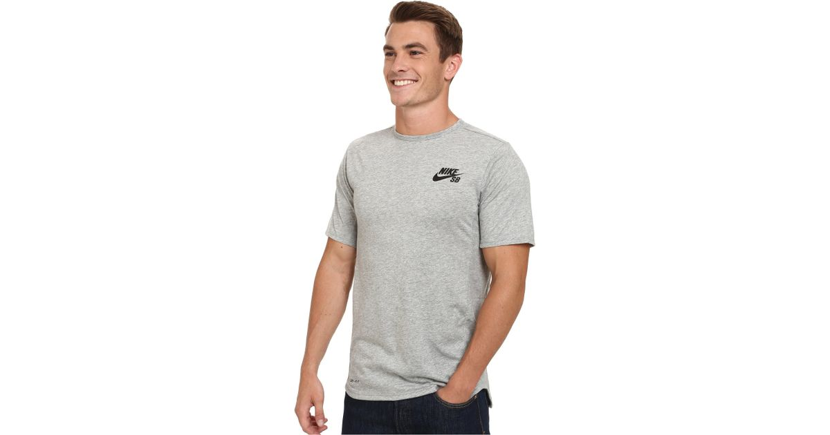 4ca878c6043a Lyst - Nike Sb Skyline Dri-fit Short Sleeve Crew in Gray for Men